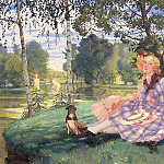 Konstantin Andreevich (1869-1939) Somov - Summer morning. 1932
