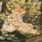 Konstantin Andreevich (1869-1939) Somov - Girl in the sun. 1930