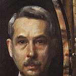 Konstantin Andreevich (1869-1939) Somov - Self-portrait in a mirror. 1928