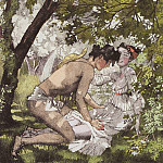 Konstantin Andreevich (1869-1939) Somov - Illustration for the novel Daphnis and Long Hloya2. 1930