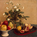 part 12 Hermitage - Fantin-Latour, Henri. Flowers, vase with fruit and a decanter