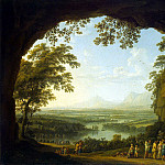 Hakkert, Jacob Philip. Landscape with the ancient festival, Якоб Филипп Гаккерт