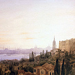 Frisero, Joseph. View of Constantinople from the valley-Büyük Dere against the Golden Horn, part 12 Hermitage