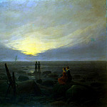 Friedrich, Caspar David. Moonrise over sea, Caspar David Friedrich