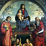 part 12 Hermitage - Francia, Francesco. Madonna with Child, St. Lavrentiev, St. Ieroninom and two angels play music