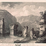 Hakkert, George Abraham. The second kind of ruins of the bridge in August in Narni, part 12 Hermitage