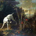 part 12 Hermitage - Oudry, Jean-Baptiste. A dog on the counter in front of partridge