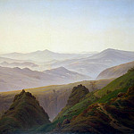 Friedrich, Caspar David. Morning in the mountains, Caspar David Friedrich