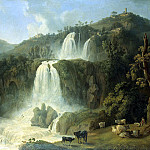 Hakkert, Jacob Philip. Grand Cascade at Tivoli, Якоб Филипп Гаккерт