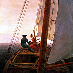 Friedrich, Caspar David. Sailing, Caspar David Friedrich