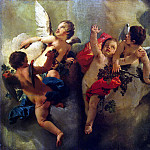 Tiepolo, Giovanni Battista. Cupids with grapes grapes, Giovanni Battista Tiepolo