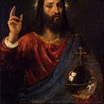 Titian. Christ the Pantocrator, part 12 Hermitage