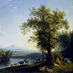 Hakkert, Jacob Philip. Landscape with a Herd, Якоб Филипп Гаккерт