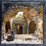 part 12 Hermitage - Uele, Jean-Pierre-Laurent. Type the tomb in an underground grotto near the church of San Nicolas on the island of Lipari