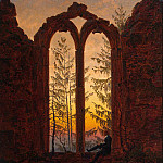 Friedrich, Caspar David. The ruins of the monastery Oybin, Caspar David Friedrich