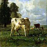 Troyon, Constant. Cows in the field, part 12 Hermitage