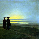 Friedrich, Caspar David. Sunset, Caspar David Friedrich