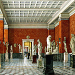 Ukhtomsky, Konstantin Andreevich. Types of rooms of the New Hermitage. Hall Greek sculpture, H Tom Hall