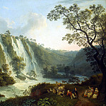 Hakkert, Jacob Philip. Villa of Maecenas and the Waterfalls at Tivoli, Якоб Филипп Гаккерт