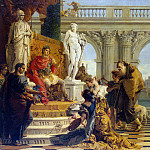 Tiepolo, Giovanni Battista. Patron is the Emperor Augustus liberal arts, Giovanni Domenico Tiepolo