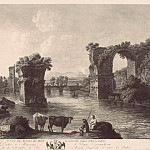 Hakkert, George Abraham. The first kind of ruins of the bridge in August in Narni, part 12 Hermitage