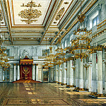 Ukhtomsky, Konstantin Andreevich. Types of rooms in the Winter Palace. St Georges Hall, H Tom Hall