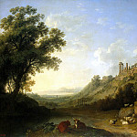 Hakkert, Jacob Philip. Landscape with ruins of temples in Sicily, Якоб Филипп Гаккерт