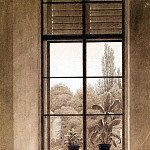 Friedrich, Caspar David. Window overlooking the park, Caspar David Friedrich