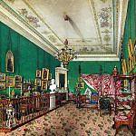 Ukhtomsky, Konstantin Andreevich. Types of rooms in the Winter Palace. Bedroom of Grand Duchess Maria Nikolaevna, part 12 Hermitage