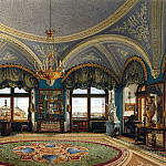part 12 Hermitage - Ukhtomsky, Konstantin Andreevich. Types of rooms in the Winter Palace. Corner living room of Emperor Nicholas I