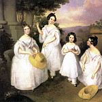 BROCKY Karoly The Daughters Of Istvan Medgyasszay, Венгерские художники