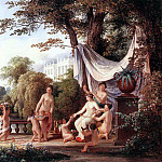 Hungarian artists - MARKO Karoly the Elder The Toilette Of Venus