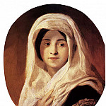 Hungarian artists - BROCKY Karoly Portrait Of A Woman With Veil