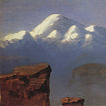top of Mount Elbrus, illuminated by the sun., Arhip Kuindzhi (Kuindschi)