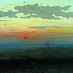 Sunset in the steppes., Arhip Kuindzhi (Kuindschi)