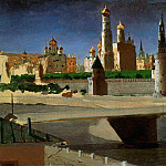 Arhip Kuindzhi (Kuindschi) - Moscow. View of the Kremlin from the Moskva River.
