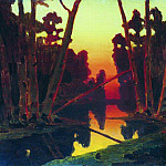 Arhip Kuindzhi (Kuindschi) - Sunset in the Forest
