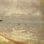 Sea. Gray day. Mariupol., De Schryver Louis Marie