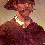 Arhip Kuindzhi (Kuindschi) - head of the peasant - a Ukrainian and a straw hat.
