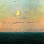 Arhip Kuindzhi (Kuindschi) - crescent moon at sunset.