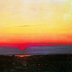 Arhip Kuindzhi (Kuindschi) - Sunset in the steppes to the sea.