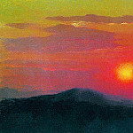 Arhip Kuindzhi (Kuindschi) - Red sunset.