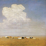 Noon. Herd in the steppe., Arhip Kuindzhi (Kuindschi)