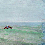 Arhip Kuindzhi (Kuindschi) - boat at sea. Crimea