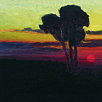 Sunset with trees., Arhip Kuindzhi (Kuindschi)