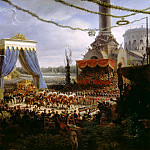 Louis Francois Lejeune -- Entry of Charles X into Paris, through the Barrière de la Villette, after his consecration, 6 June 1825, Château de Versailles