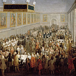 Attributed Pierre-Denis Martin -- Coronation banquet of Louis XV at Reims, 25 October 1722, Château de Versailles