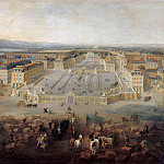 Château de Versailles - Pierre-Denis Martin -- View of the chateau at Versailles from the Place d'Armes in 1722