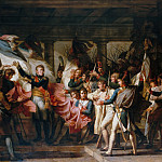 Marshall Ney and the soldiers of the 76th regiment of the line retrieve their colors from the arsenal at Innsbruck, 7 November 1805, H Tom Hall