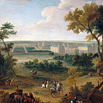 Château de Versailles - Jean-Baptiste Martin the elder -- View of the chateau at Vincennes near the park